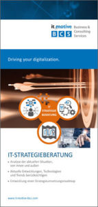 Flyer IT-Strategieberatung BCS it-motive BCS GmbH