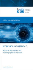 Flyer Workshop Industrie 4.0 it-motive BCS GmbH